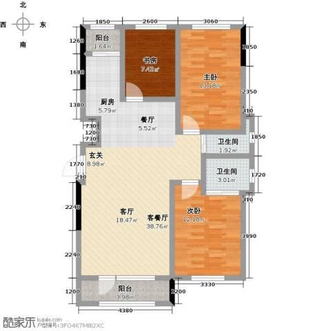 新星宇・之悦3室1厅2卫0厨112.00㎡户型图