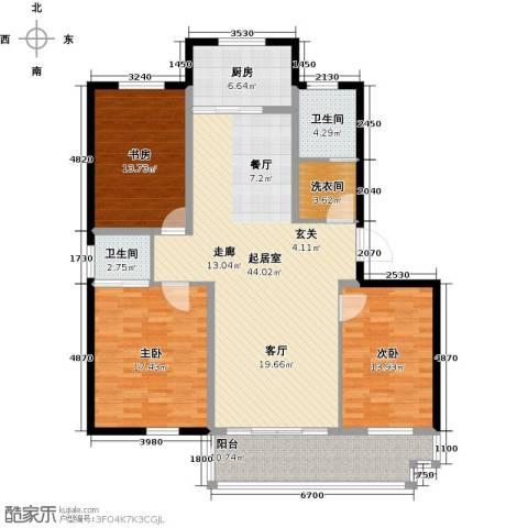 万泰香河佳园3室0厅2卫1厨132.00㎡户型图