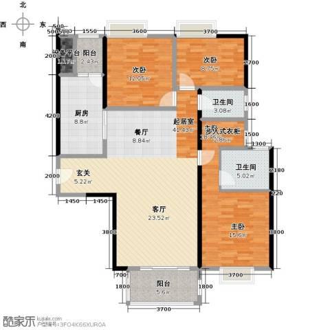 尚东峰景3室0厅2卫1厨150.00㎡户型图