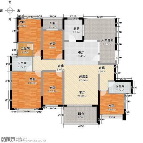 深房传麒山5室0厅3卫1厨177.00㎡户型图