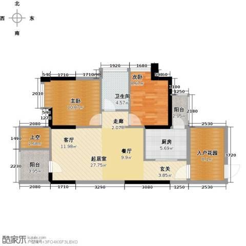 深房传麒山2室0厅1卫1厨82.00㎡户型图