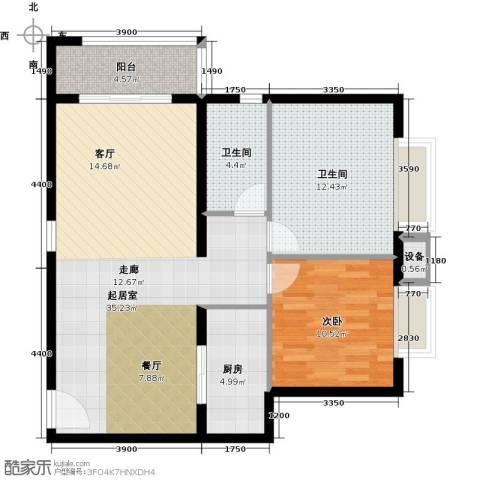 万达广场1室0厅2卫1厨102.00㎡户型图