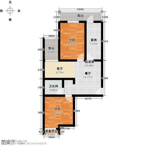 海�・新天地2室0厅1卫1厨94.00㎡户型图