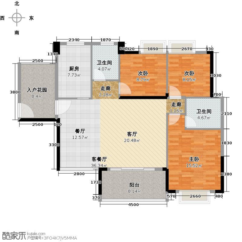 御品湾127.65㎡127.65户型3室2厅2卫
