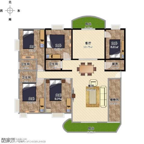 源昌大厦5室2厅3卫1厨145.00㎡户型图