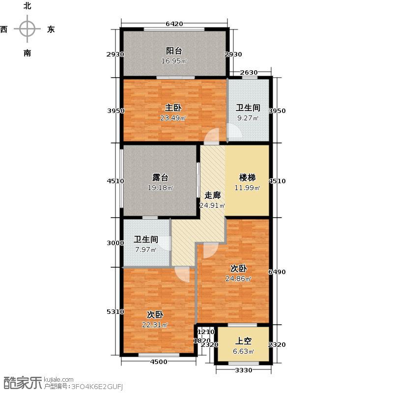 中海独墅岛509.00㎡F户型二层户型4室3厅3卫