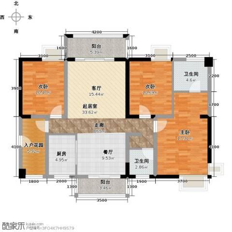 华盛・世纪新城3室0厅2卫1厨143.00㎡户型图