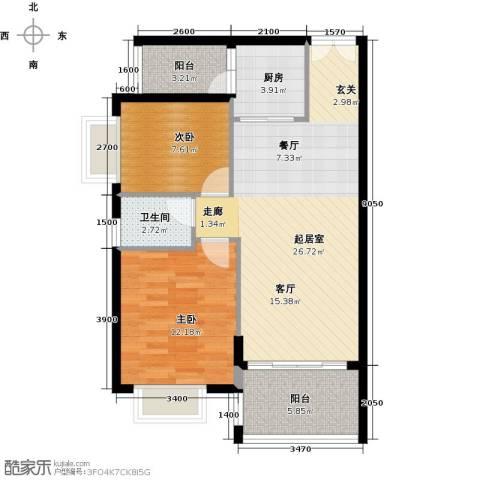 胜球阳光花园三期2室0厅1卫1厨78.00㎡户型图