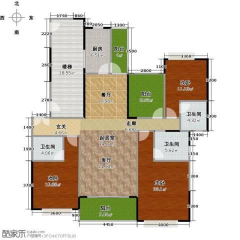 光大锦绣山河四期观园3室0厅3卫1厨165.00㎡户型图