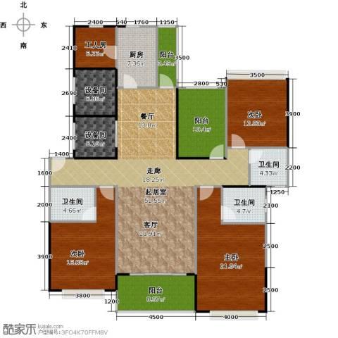 光大锦绣山河四期观园3室0厅3卫1厨178.00㎡户型图
