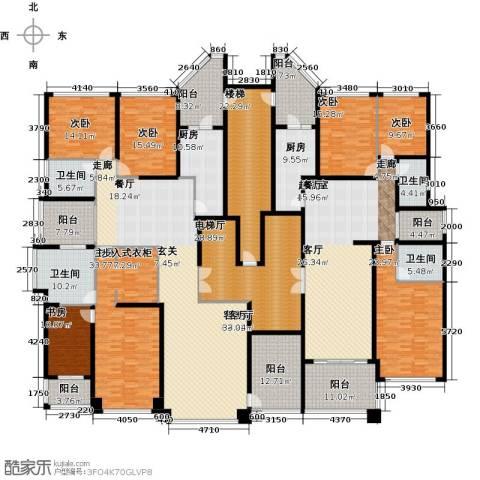 恒大华府7室1厅4卫2厨386.49㎡户型图