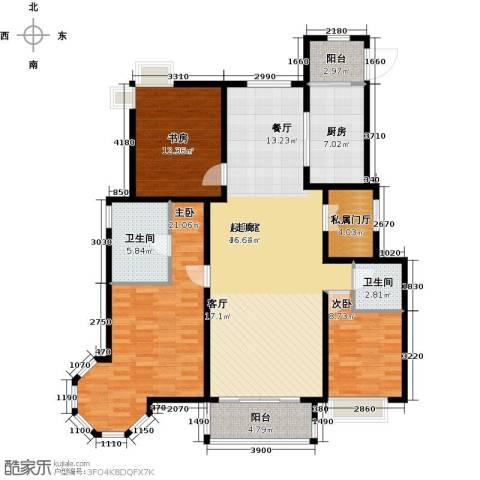 北京城建・琨廷3室0厅2卫1厨156.00㎡户型图