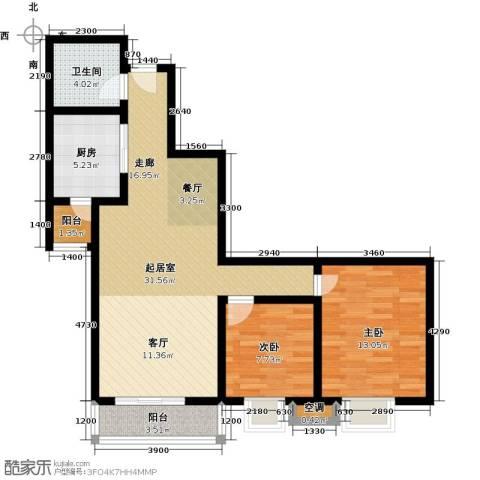 海�・新天地2室0厅1卫1厨98.00㎡户型图