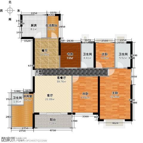 丹梓龙庭4室1厅3卫1厨158.00㎡户型图