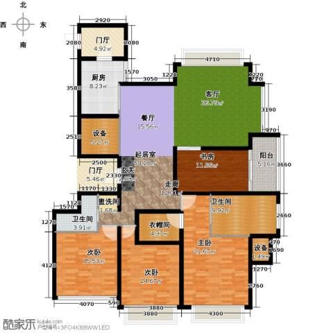 雅戈尔东海府4室0厅2卫1厨182.15㎡户型图