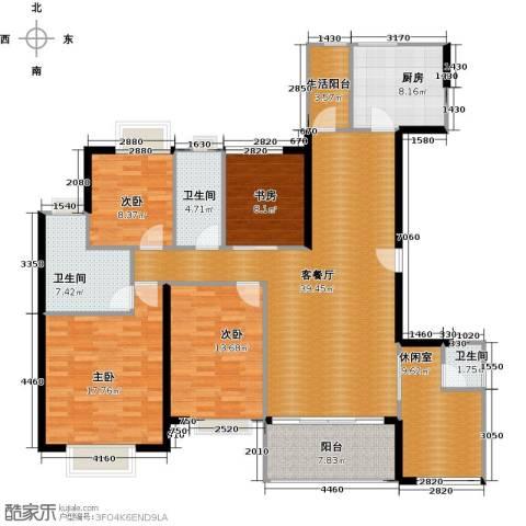 丹梓龙庭4室1厅3卫1厨151.00㎡户型图