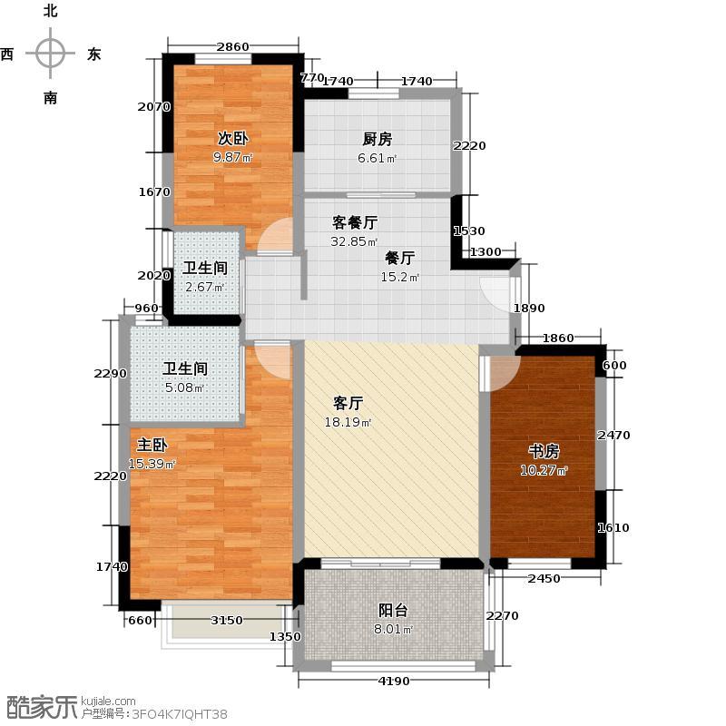 永利・滨江御景户型3室1厅2卫1厨