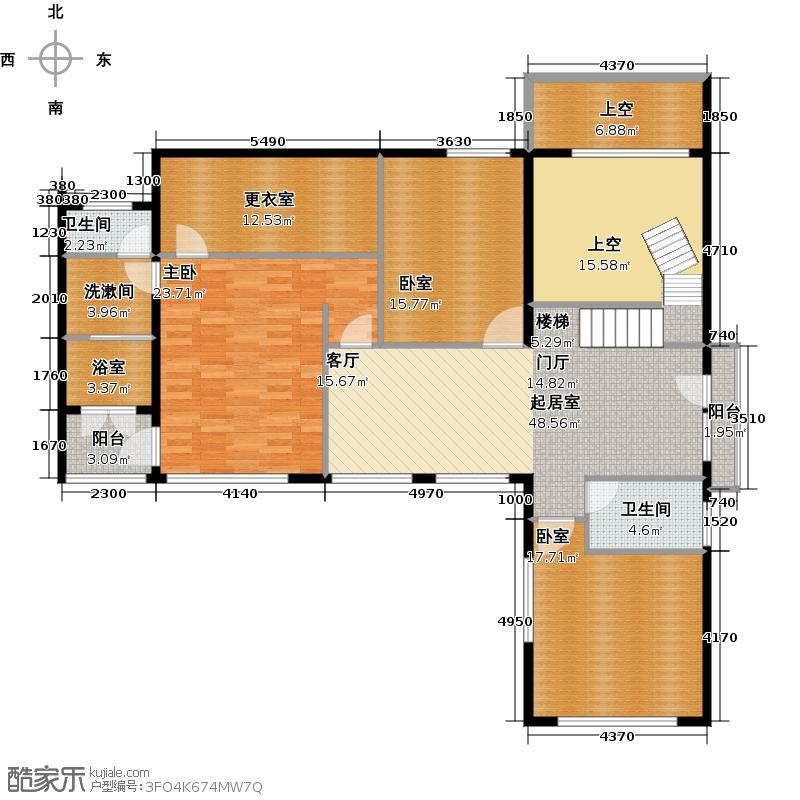 北京湾N2二层户型1室2卫