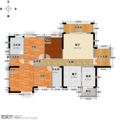 广大上城4室0厅2卫1厨155.00㎡户型图