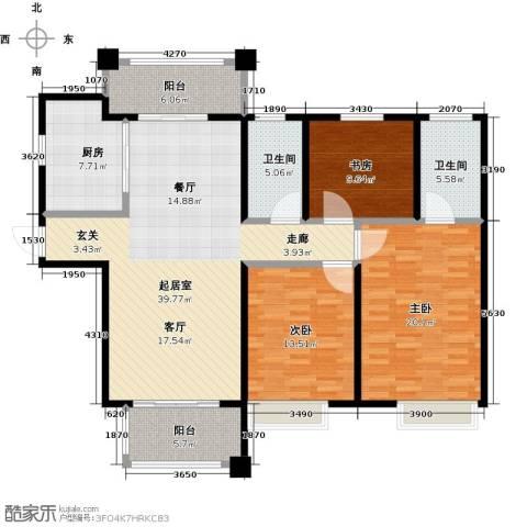 国联乐园3室0厅2卫1厨127.00㎡户型图