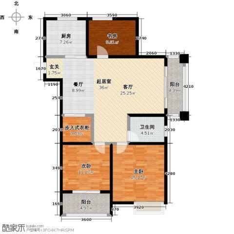 国联乐园3室0厅1卫1厨108.00㎡户型图