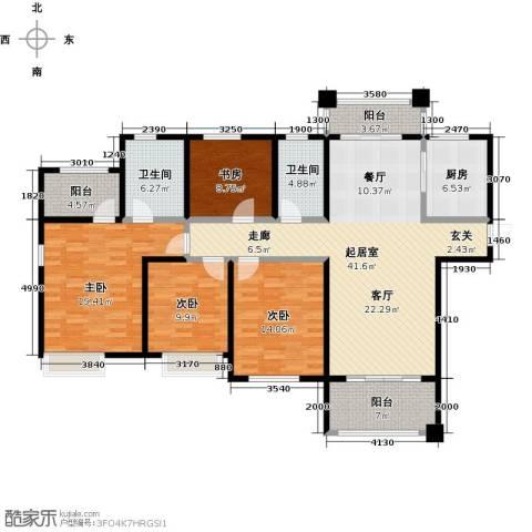 国联乐园4室0厅2卫1厨143.00㎡户型图