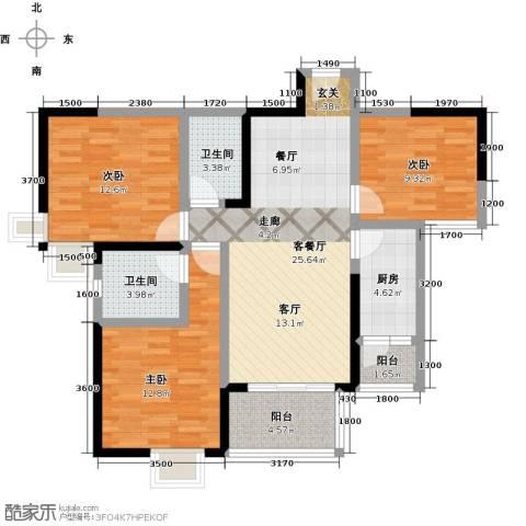 仁美大源印象3室1厅2卫1厨101.00㎡户型图