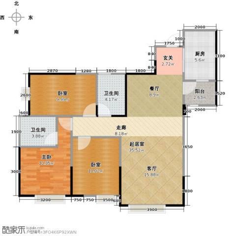 江宇天府城1室0厅2卫1厨106.00㎡户型图