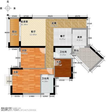 广大上城3室0厅2卫1厨106.00㎡户型图