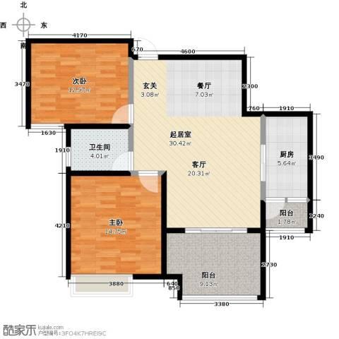 国联乐园2室0厅1卫1厨88.00㎡户型图