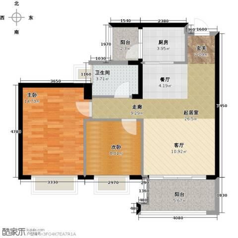 中澳春城2室0厅1卫1厨73.30㎡户型图
