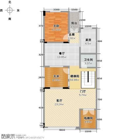 武汉锦绣香江1室1厅1卫1厨222.00㎡户型图