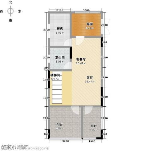 武汉锦绣香江1厅1卫1厨103.00㎡户型图