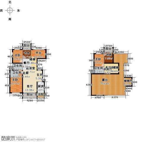 成都合院院邸5室0厅3卫1厨262.00㎡户型图