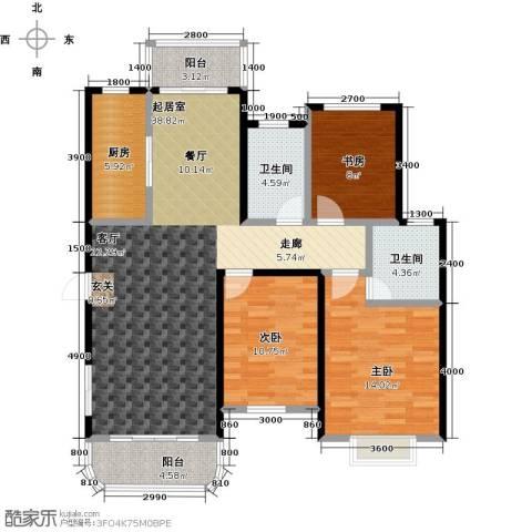 碧水戎城3室0厅2卫1厨125.00㎡户型图