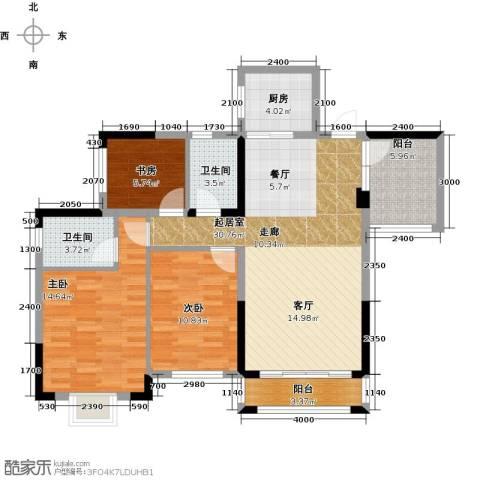 广大上城3室0厅2卫1厨110.00㎡户型图