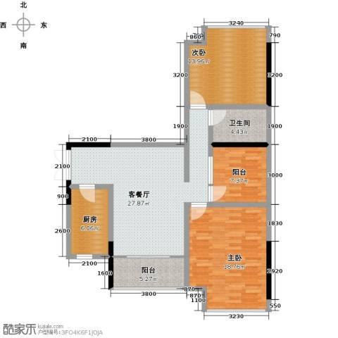 卓越东江2室1厅1卫1厨120.00㎡户型图