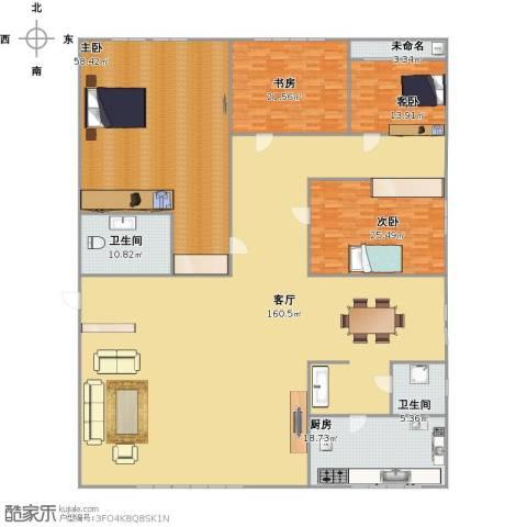 商学院和园4室1厅2卫1厨415.00㎡户型图