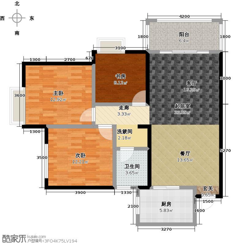 成邦华夏公馆105.21㎡9#―C户型3室2厅1卫