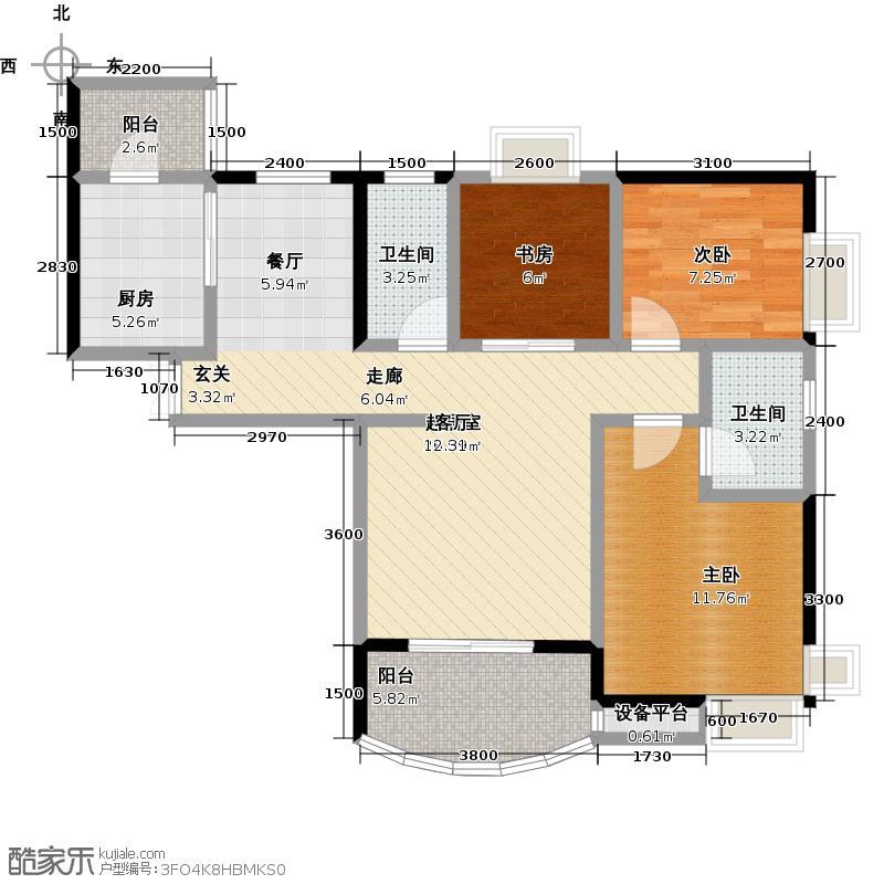 长安锦绣城--21套户型3室2卫1厨