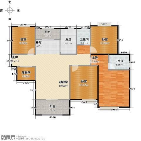首开太湖一号1室0厅2卫1厨165.00㎡户型图