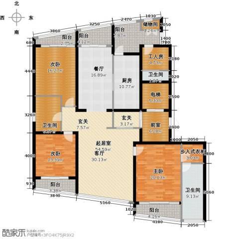 湖滨御景花园3室0厅3卫1厨256.00㎡户型图