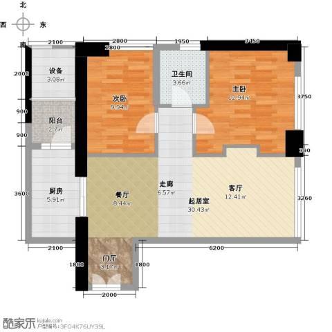 华润万象城2室0厅1卫1厨90.00㎡户型图