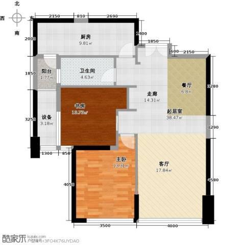 华润万象城2室0厅1卫1厨110.00㎡户型图
