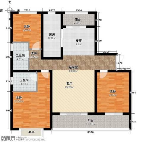 中房颐园3室0厅2卫1厨134.00㎡户型图