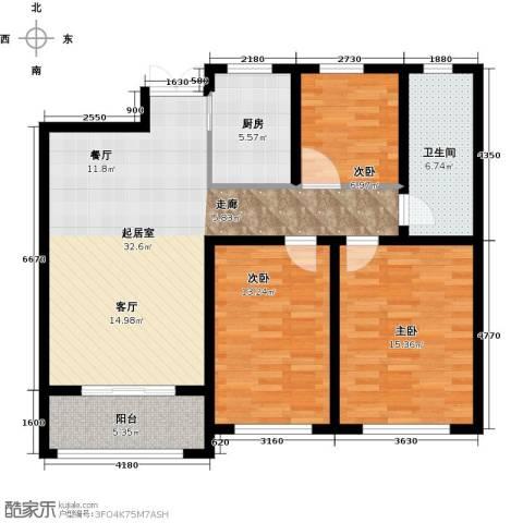 中房颐园3室0厅1卫1厨98.00㎡户型图