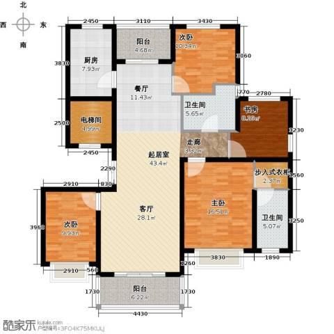 中房颐园4室0厅2卫1厨143.00㎡户型图
