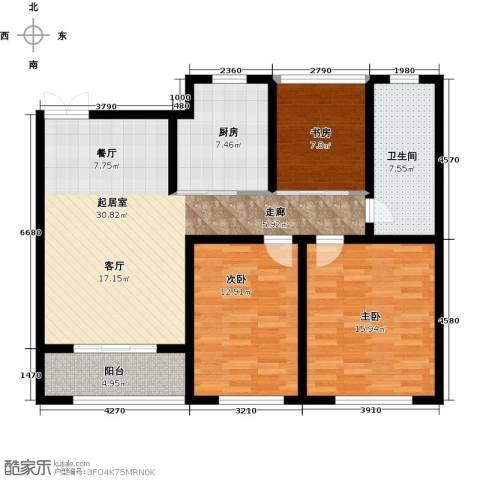 中房颐园3室0厅1卫1厨100.00㎡户型图
