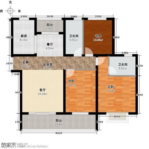 中房颐园3室0厅2卫1厨132.00㎡户型图