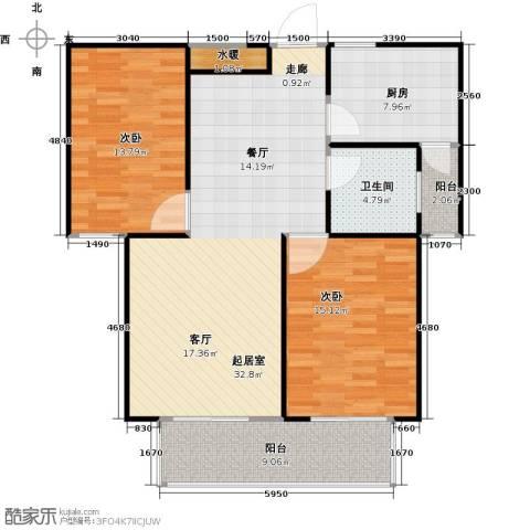 安泰诚品2室0厅1卫1厨93.00㎡户型图
